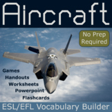 Aircraft ESL / EFL Vocabulary Builder - English+Chinese