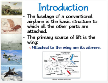 Aircraft Flight Control: PowerPoint, illustrated Student Guided Notes, Worksheet