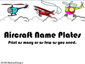 Aircraft Name Plates