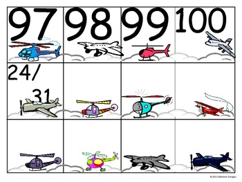 Aircraft Numbers (100's Chart and Calendar)