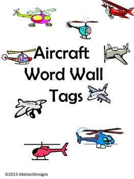 Aircraft Word Wall Tags