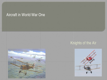 Aircraft in World War One: Knights of the AirFavourite