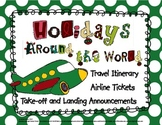 Airline Ticket, Itinerary, and Flight Instructions for Holidays Around the World