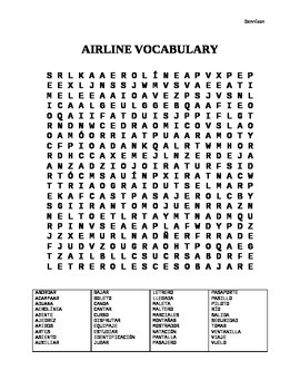 Airline Word Search