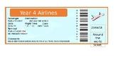 Airline ticket and passport