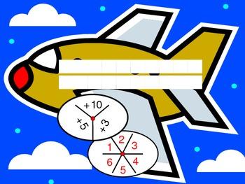 Airplane Addition - +3, +5, +10!!!