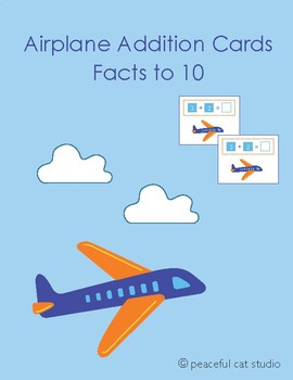 Airplane Addition Cards Facts to 10