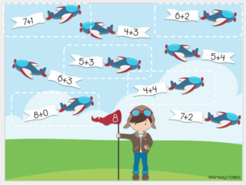 Airplane Addition (Great for Google Classroom!)