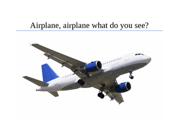Airplane, Airplane what do you see? Booklet