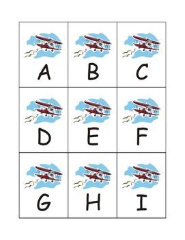 Airplane Alphabet Games Flashcards eBook