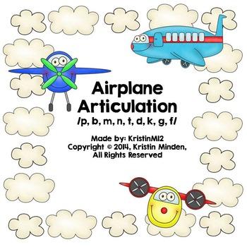 Airplane Articulation-/p, b, m, n, t, d, k, g, f/