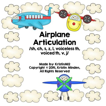 Airplane Articulation-/sh, ch, s, z, l, voiceless th, voiced th, v, j/