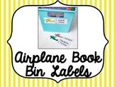 Airplane Book Bin Labels- EDITABLE