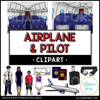 Airplane and Pilot Clip Art