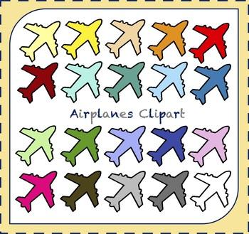 Airplane Clipart / Transportation Clipart / Plane Clipart