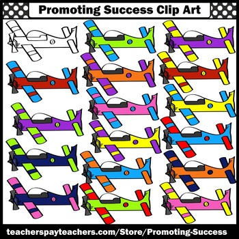 Airplane Clipart for Transportation Unit Airplanes Clip Art Commercial Use SPS