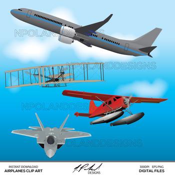 Airplane Digital Clip Art