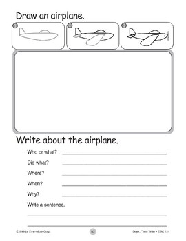 Airplane (Draw...Then Write)