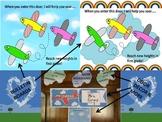 #backtoschool Preprinted Airplane/Flight Themed Bulletin Board
