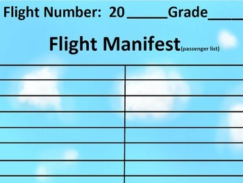 #backtoschool Preprinted Airplane/Flight Themed Bulletin Board