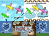 #bestof2017 Preprinted Airplane/Flight Themed Bulletin Board