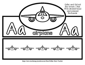 Airplane Hat / Crown  #7 -  #StartFreshBTS - Preschool by Narcissa
