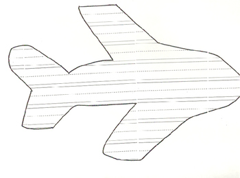 Airplane Primary Writing Template