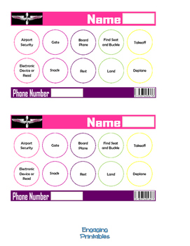 Airplane Punch Card