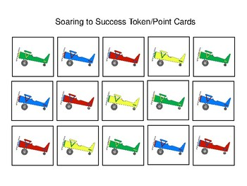 Airplane Themed Token Economy (Includes 5 Point Charts)