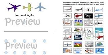 Airplane Token Board Autism ABA