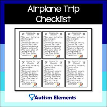 Airplane Trip Checklist
