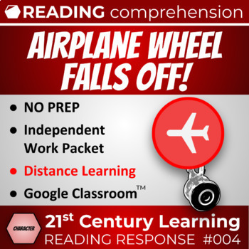 Airplane Wheel Falls Off Reading Comprehension Passage - Article 004 Character