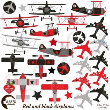 airplane and biplane clipart red and black plane clipart jet amb rh teacherspayteachers com biplane clipart black and white airplane clipart no background