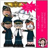 Airplane clip art - Mini - Melonheadz Clipart