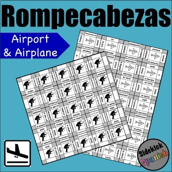 Airplane / flying vocabulary puzzles