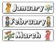 """Airplane"" themed Calendar Set"