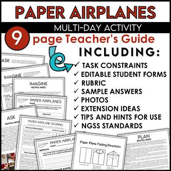 STEM Engineering Challenge Paper Airplanes