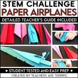 STEM Challenge Paper Airplanes