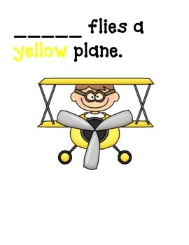 Airplanes Classbook and Color Review