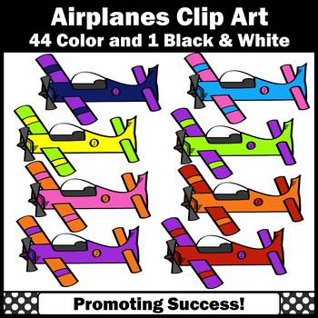 Airplanes Clip Art Airplane Clipart for Transportation Unit Commercial Use SPS