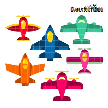 Airplanes Clip Art - Great for Art Class Projects!