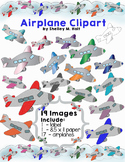Airplanes Clipart, Label, and Paper