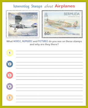 Airplanes:  Fun with Postage Stamps