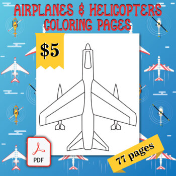 Airplanes Helicopters Coloring Pages 77 Printable Coloring Sheets 8 5 X 11