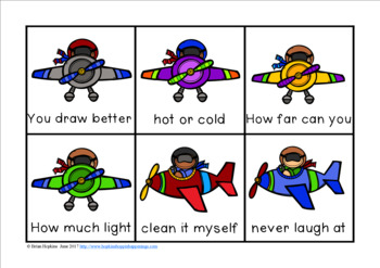 Airplanes Sight Word Fluency Phrases Race