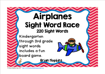 Airplanes Sight Word Race