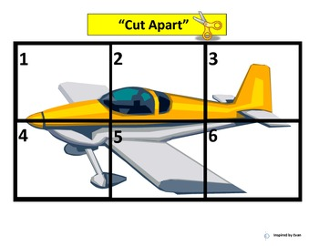 """Airplanes"" Simple Puzzles for Autism"