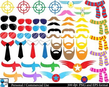 Airplanes and Pilots Props ClipArt Personal, Commercial Use 178 images cod179