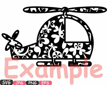 Airplanes flower Silhouette Clipart military helicopter Aircraft cute plane 337s