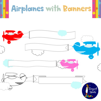 Airplanes with Banners - Clip art